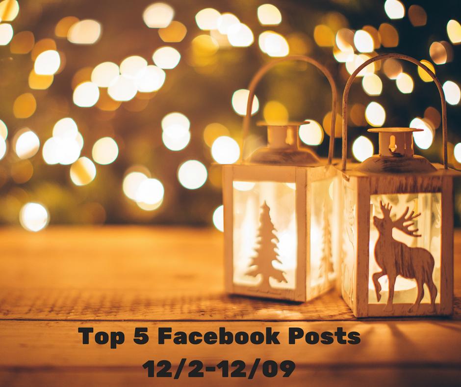 Facebook Top 5 (12/02-12/09)