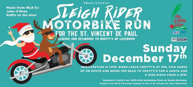 Sleigh Rider Motorbike Run - Sunday, 17th December