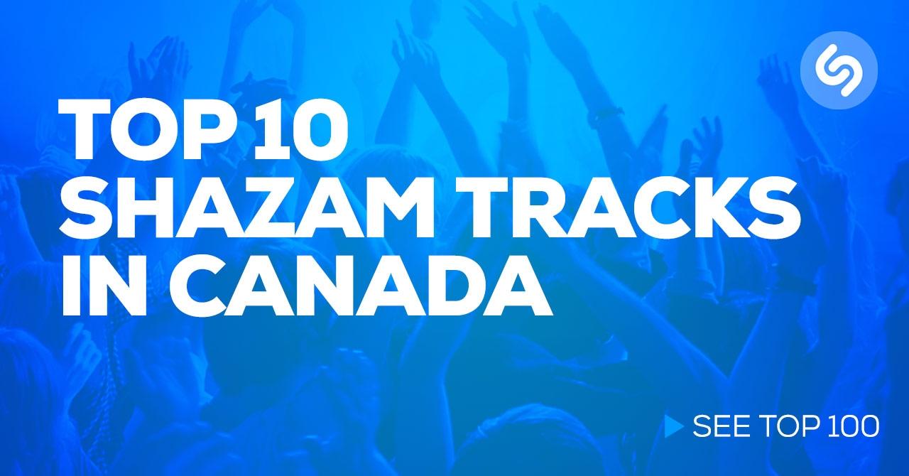 Shazam Canada Top 10 Chart