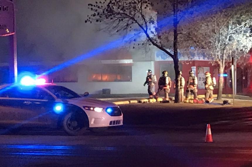 Fire at Bonanza in Saskatoon