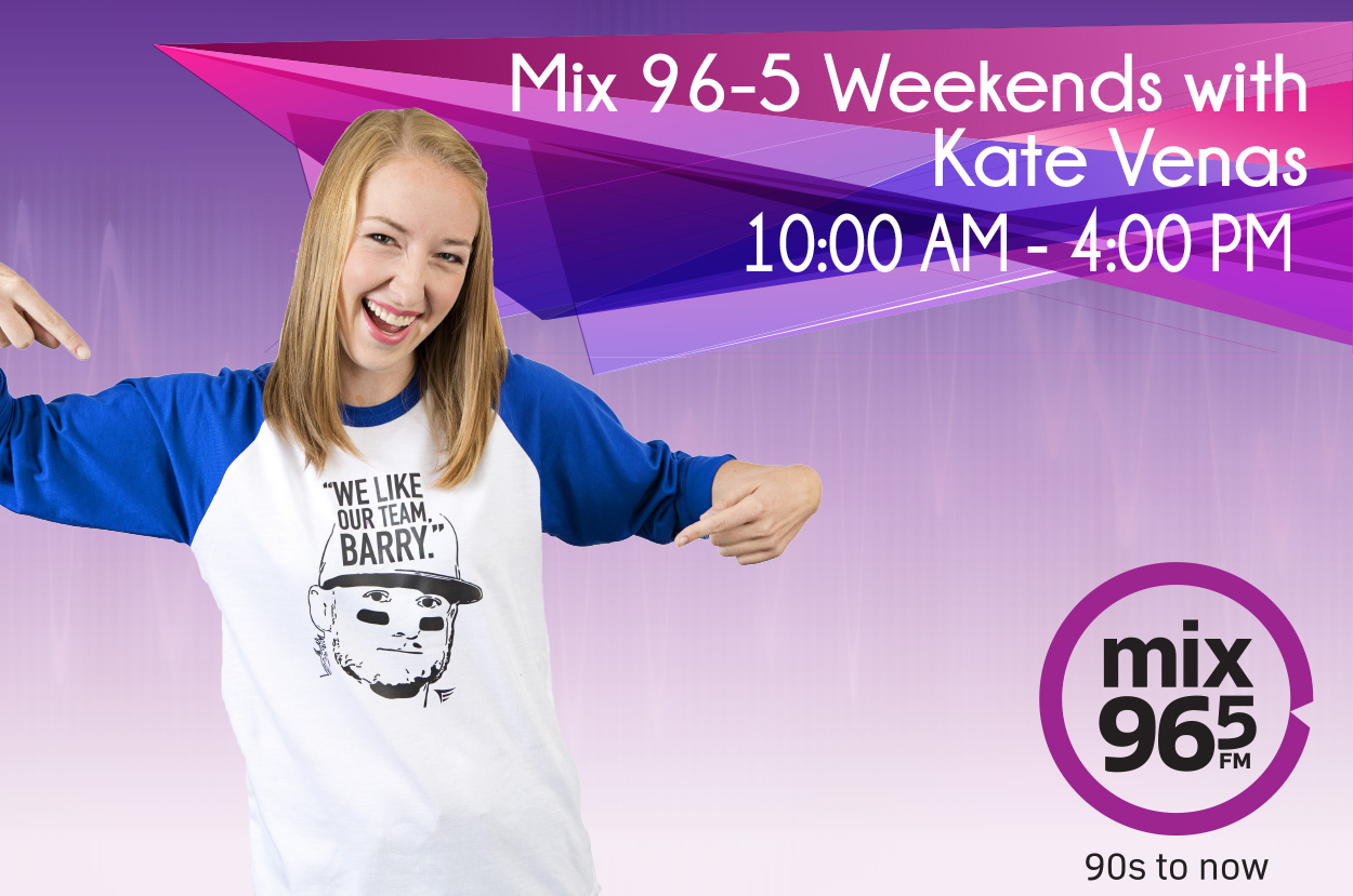Mix 96-5 Weekends with Kate Venas