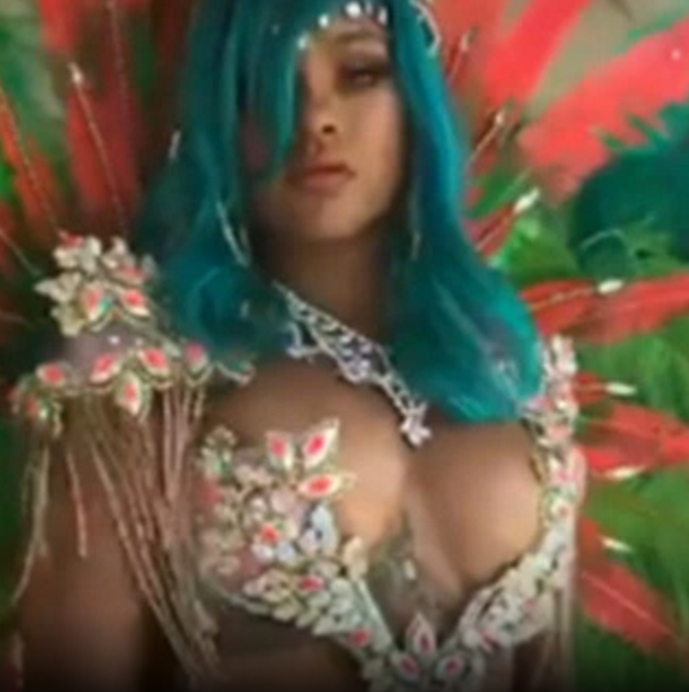Rihanna Stuns In Sexy Embellished Bikini For Crop Over Parade In Barbados