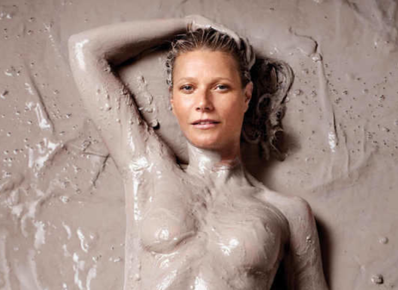 Gwyneth Paltrow Is Naked and Covered in Mud for First-Ever Cover of Her New Magazine [SFW PIC]