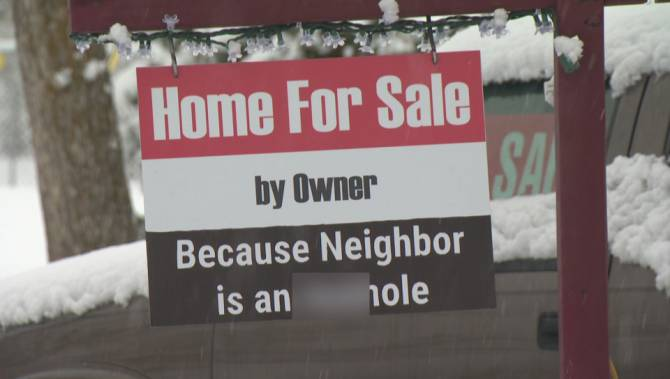 For Sale Sign Warns Buyers: 'Neighbor Is an A Hole'