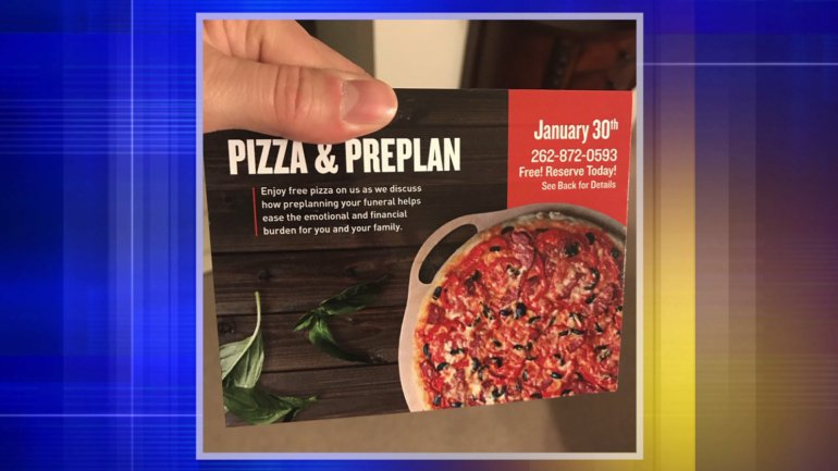 Wisc. Funeral Home Offers Free Pizza to Get People in to Pre-Plan Their Funerals