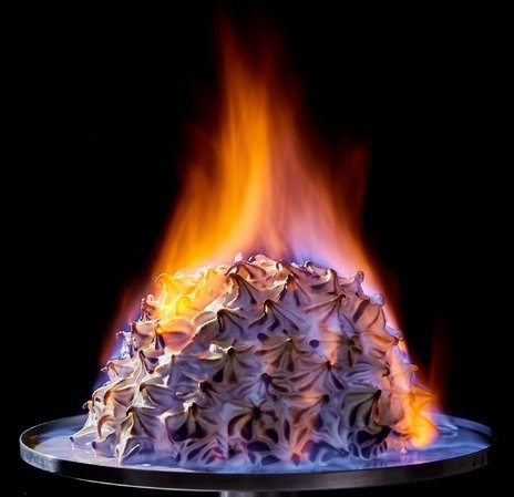 Ice Cream That You Swear Is On Fire!