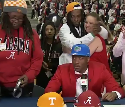 Recruit's Mom Walks Out of Signing-Day Ceremony When He Chooses Florida