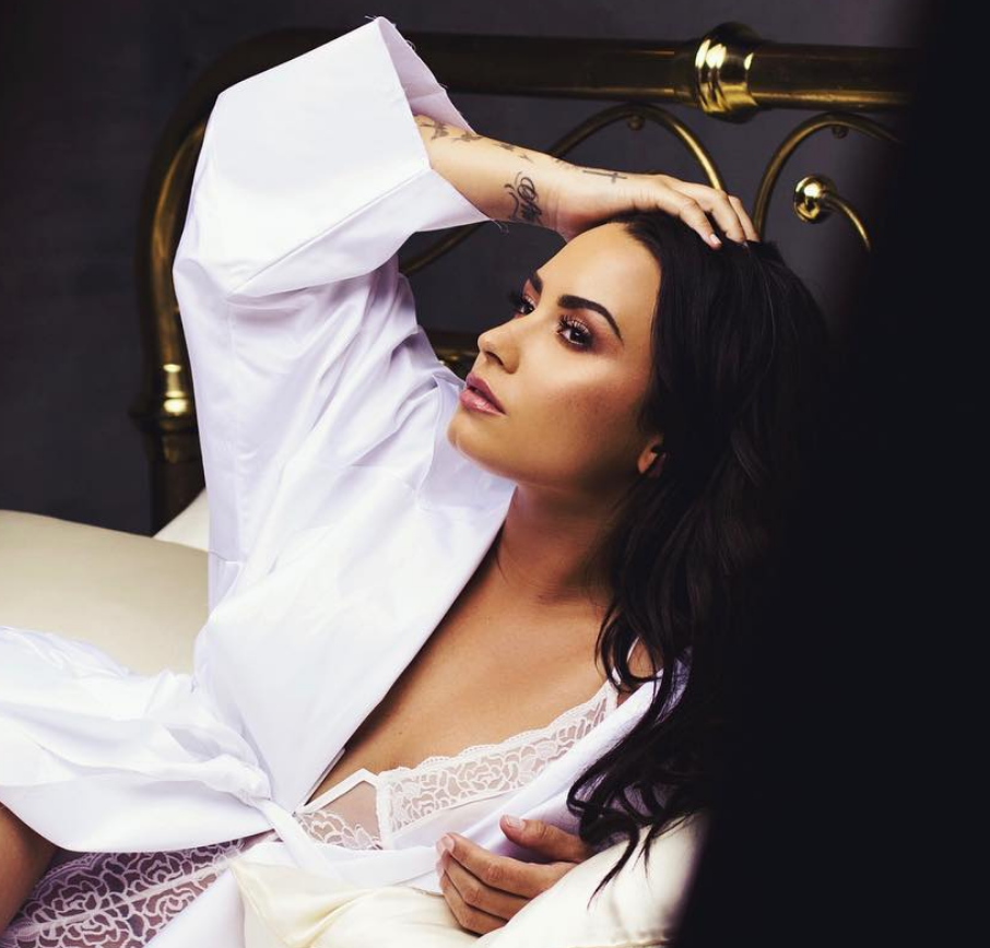 Demi Lovato Gets Candid in a Sultry Bedroom Lingerie Snap [SFW PIC]