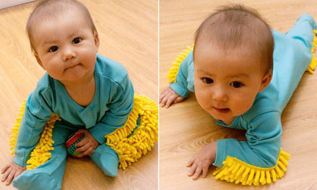 Amazon Selling a Mop Onesie So Your Crawling Baby Can Clean Your Floors