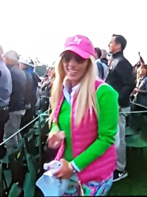 Masters Winner Patrick Reed's Wife Gets Meme Treatment for Barney Outfit