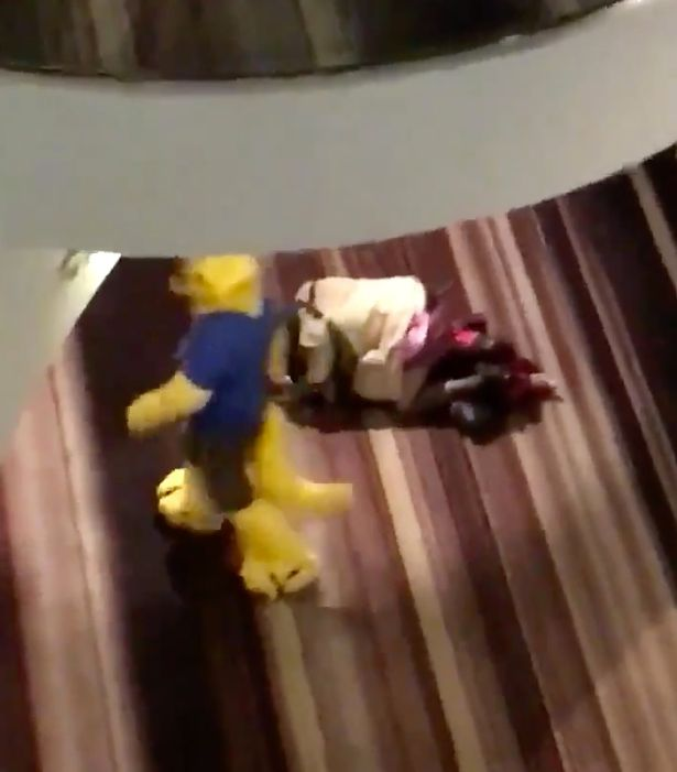 Raunchy Couple Caught Humping in Hotel Lobby During Furry Convention [SFW VIDEO]