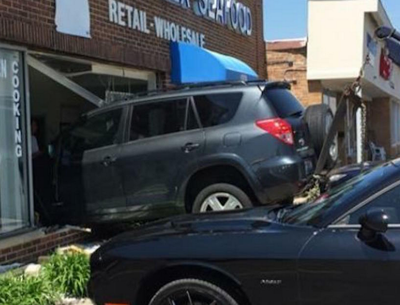 80-Year-Old Man Crashes Car into Store, Then Walks a Few Doors Down to Get a Haircut [PIC]