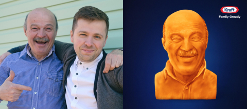 Get Your Dad the Cheesiest Gift of Them All – a Kraft Cheese Sculpture of Himself