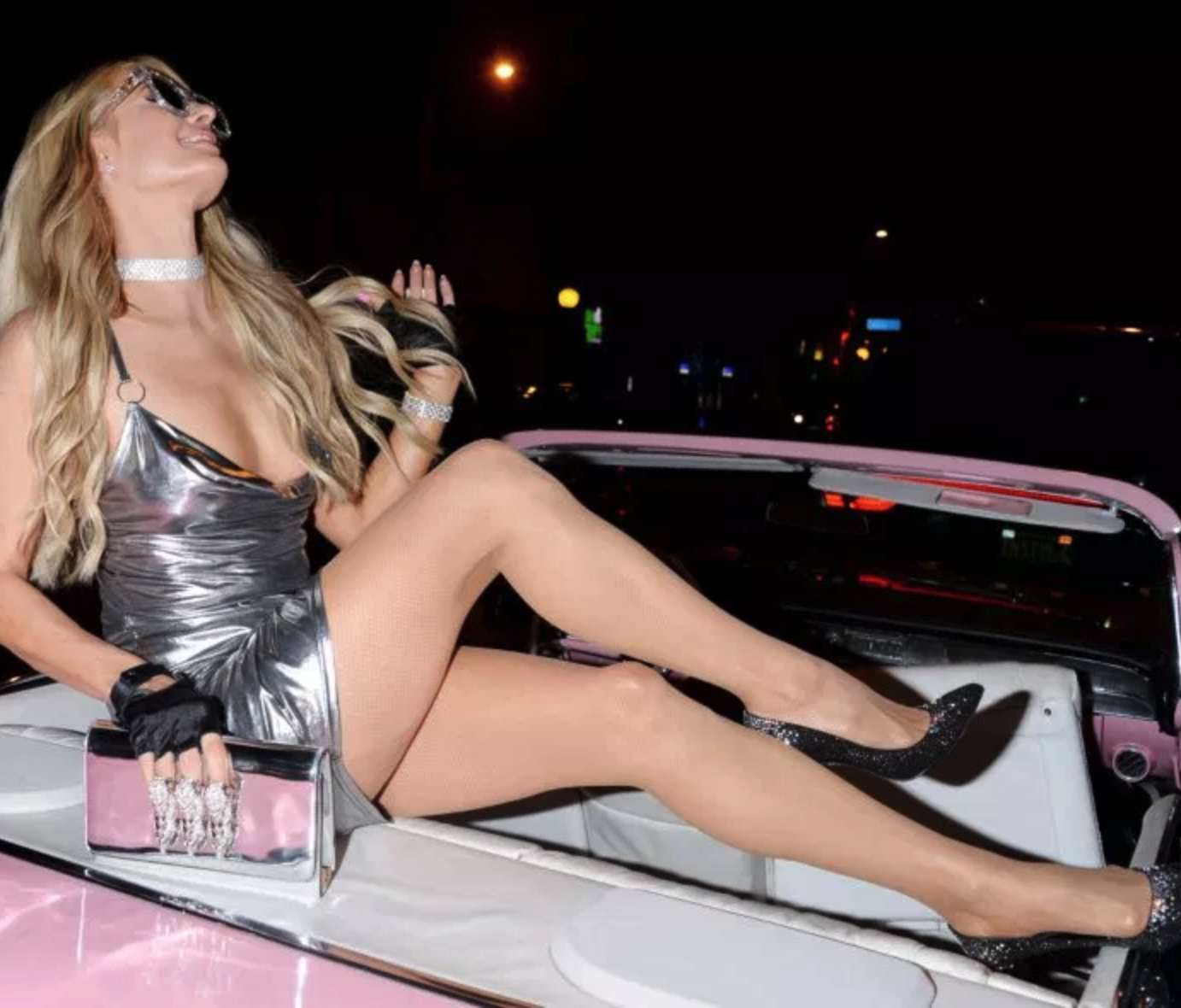 Paris Hilton Has Legs for Days in Her Short Silver Dress
