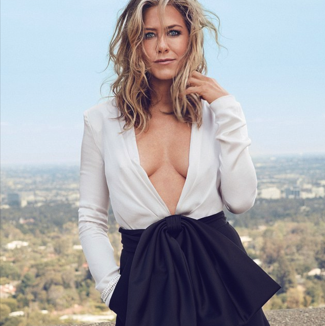 Jennifer Aniston Shows a Ton of Cleavage to InStyle Magazine [SFW PICS]