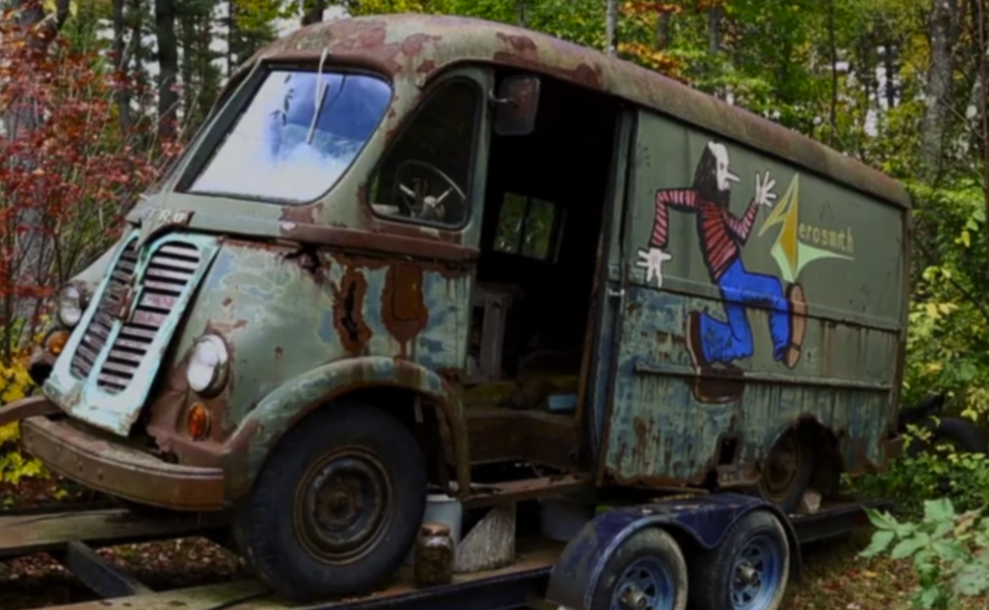 AMERICAN PICKERS Hosts Stumble Upon Old Aerosmith Tour Van in the Woods
