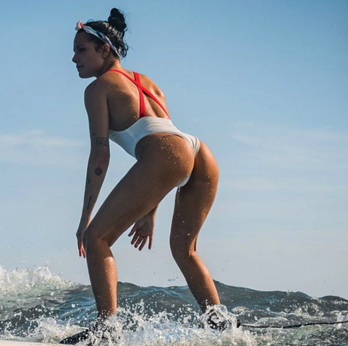 Halsey Busts Out Her Awesome Booty on a Surfboard [SFW PICS]