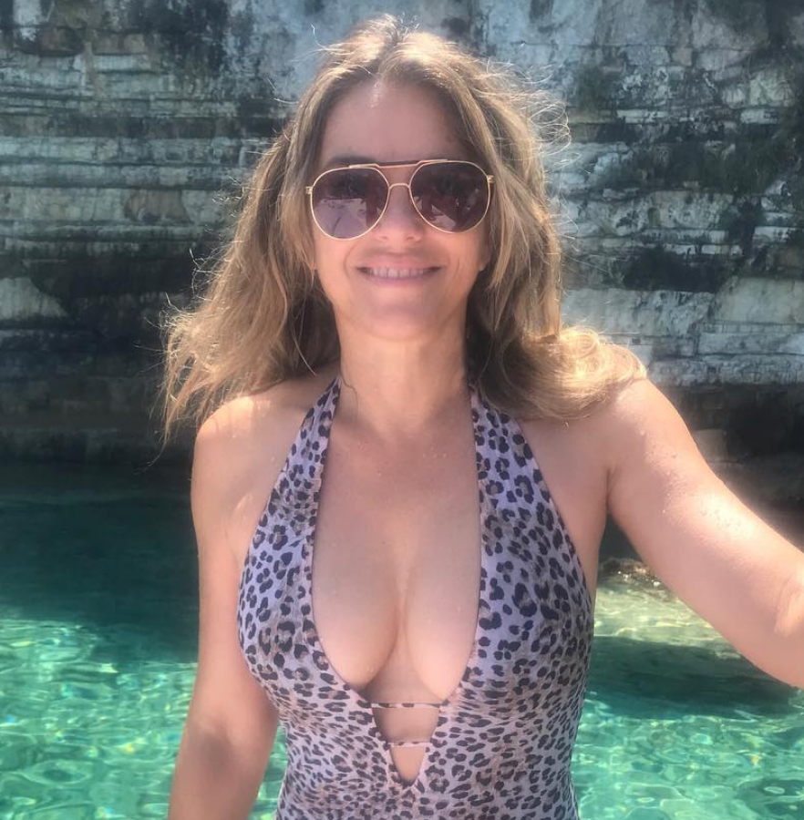Elizabeth Hurley, 53, Flaunts Cleavage in a Plunging Leopard-Print Swimsuit [PIC]