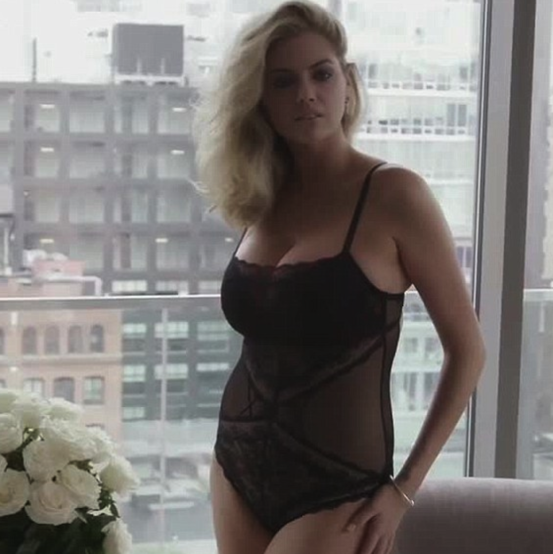 Kate Upton Poses in Black Underwear for New Instagram Post [PICS & VIDEO]