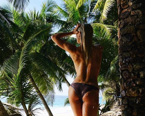 Julianne Hough Showed Off Her Peachy Posterior While Taking a Topless Beach Shower [SFW PIC]