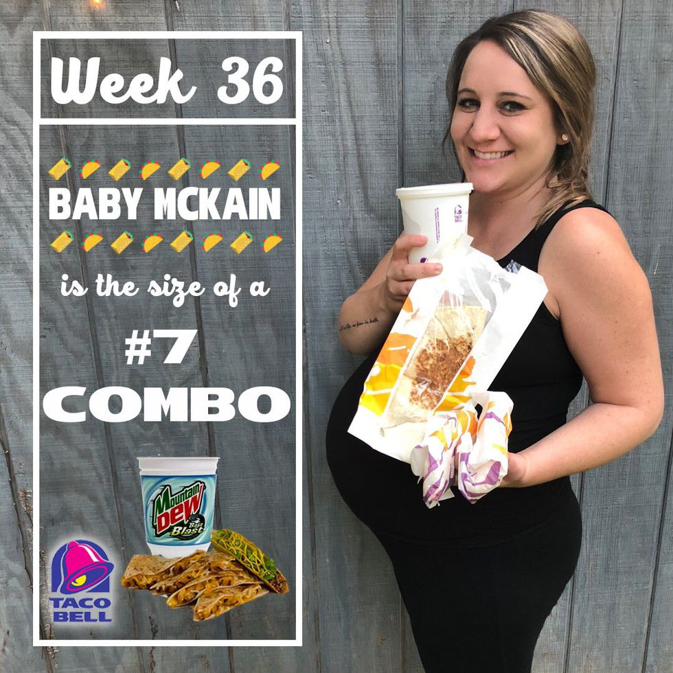 This Mom-to-Be Is Tracking Her Baby's Growth Using Taco Bell Foods