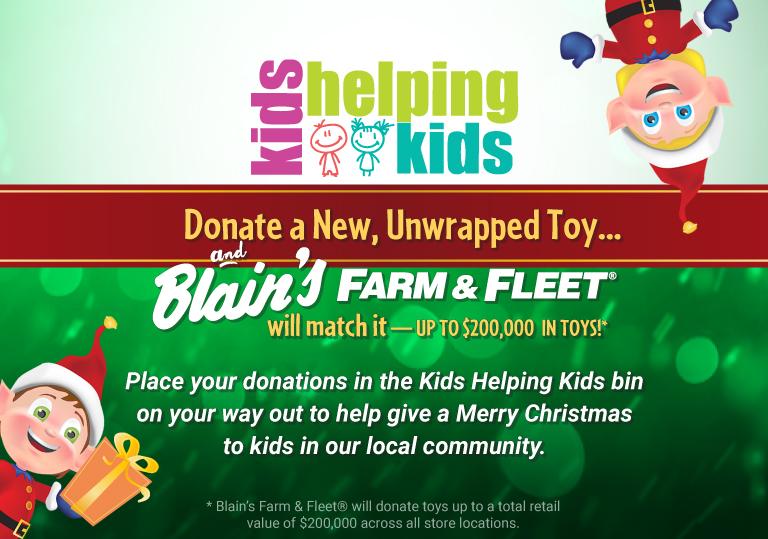Blain's Farm and Fleet KIds Helping Kids