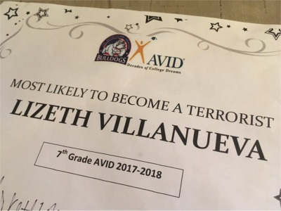 Texas Teacher Gives 'Most Likely to Become a Terrorist' Award to 7th Grader