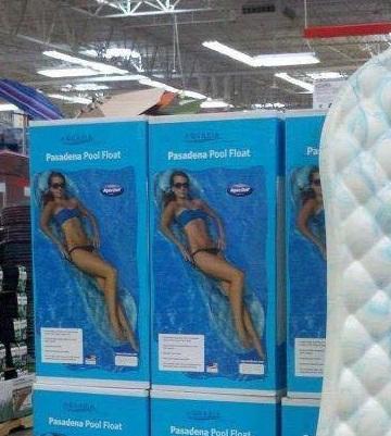 A Very Feminine Pool Float