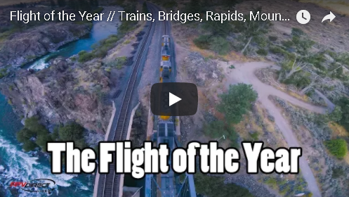 Guy Flys Drone On, In, And Under A Moving Train