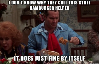 Never Dis Hamburger Helper!