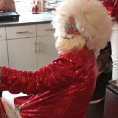 Brett Eldredge Slips Into A Santa Suit While His Dog, Edgar, Becomes A Reindeer