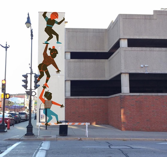 Mural Coming to Down Town Parking Ramp