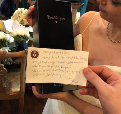 How About Getting A Gift From Taylor Swift On Your Wedding Day?