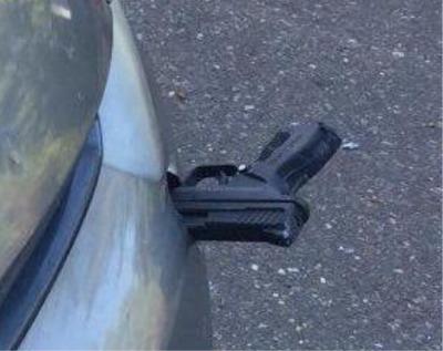 A Washington State Motorist's Car Was Hit By A Flying Gun