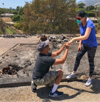 True Love Has Emerged From The Ashes Of A California Fire