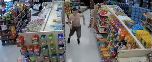 Unbelievably Funny Video Of Police Chase Inside Of A Canadian Convenience Store!