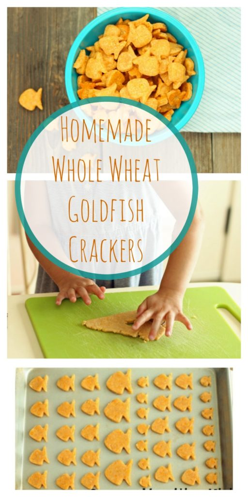 After School Snack... Homemade Whole Wheat Goldfish Crackers