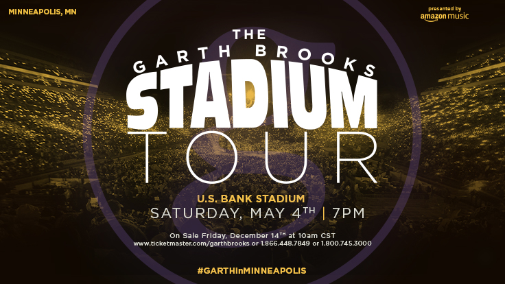 Garth Is Coming To Minneapolis!