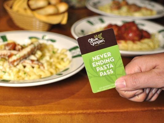 It's Back: Olive Garden's New Never Ending Pasta Pass!