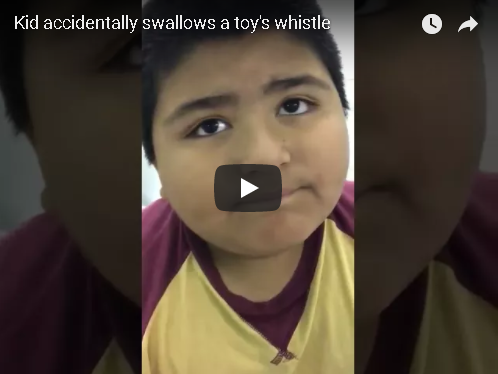 Kid Accidentally Swallows Squeaky Toy