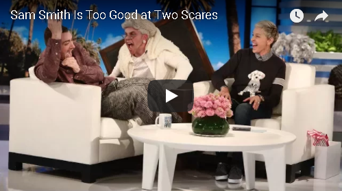 "Sam Smith ""Spooked"" Not Once, But Twice On Ellen"