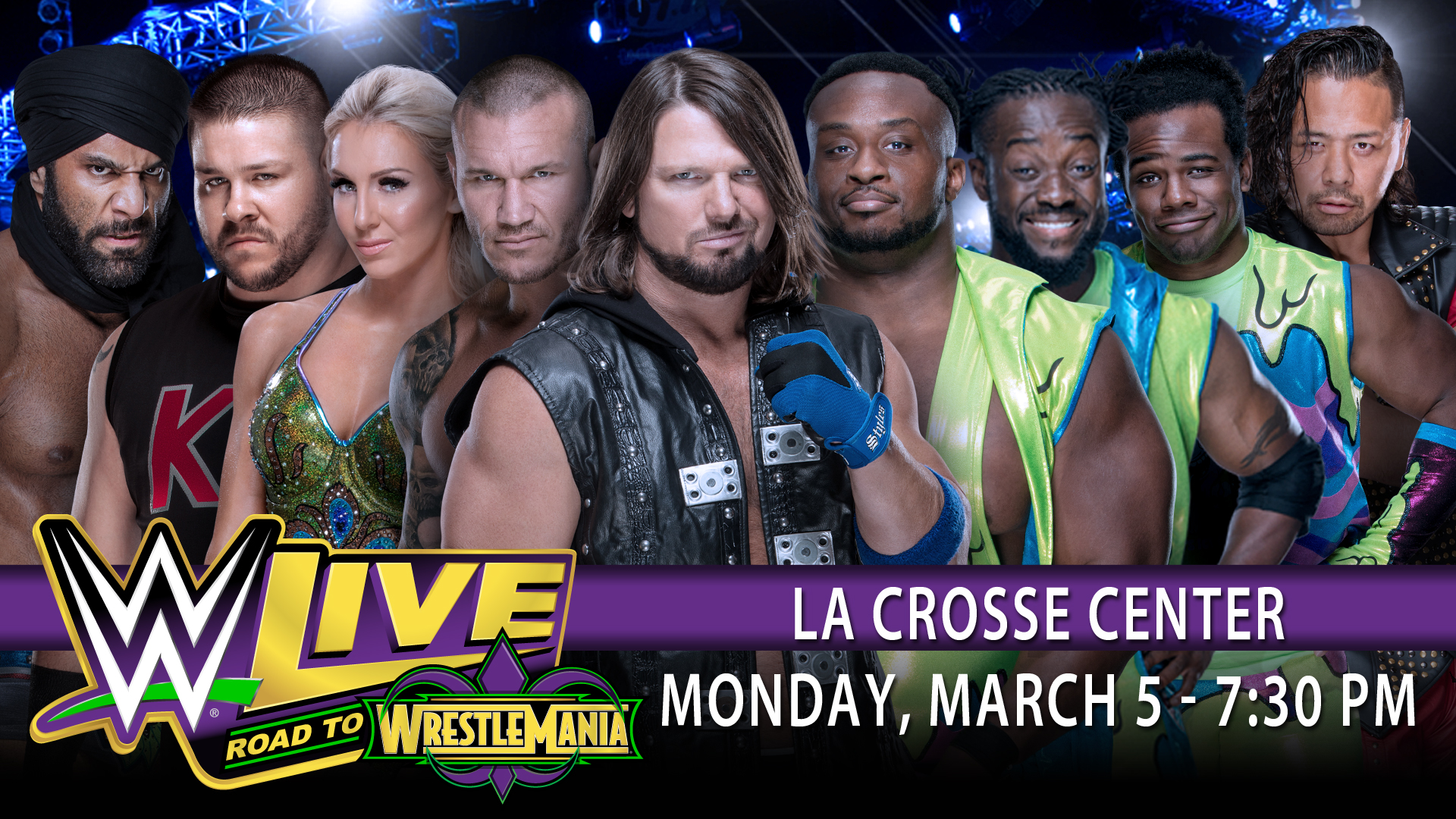 Updated Match Card for WWE Live in La Crosse Next Week!