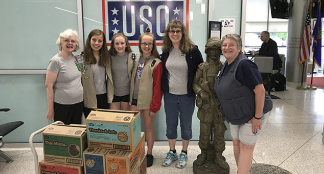 G-E-T Girl Scout Troop Donates Cookies to Military