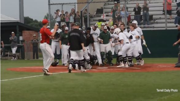 Wheelchair-bound teen scores from first base