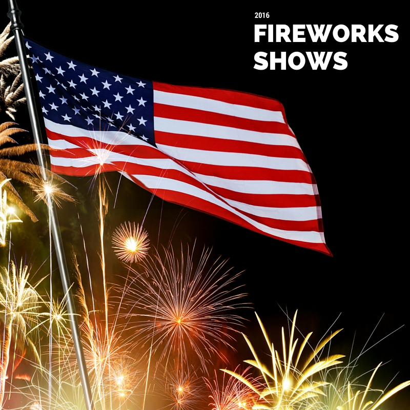 2016 Area Fireworks Shows