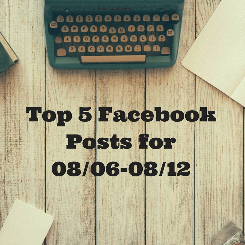 Facebook Top 5 (07/23-07/29)