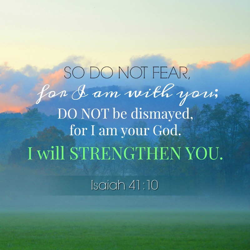 Verses To Help Us Overcome Fear