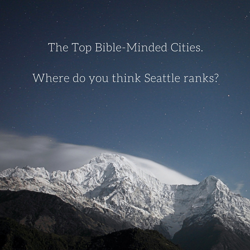 The Top Bible Minded Cities