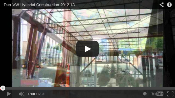 VIDEO: Remodel of Parr VW-Hyundai Construction
