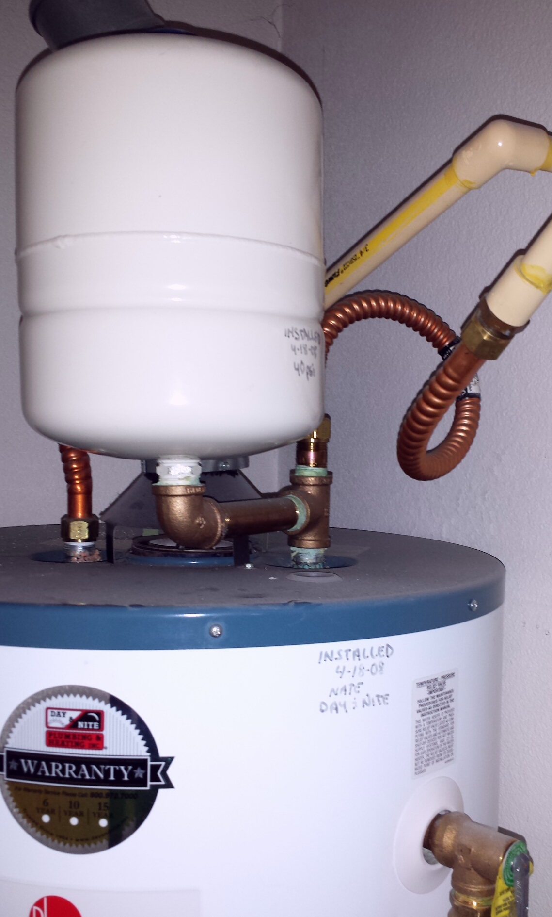 Expansion Tank…That Thing On Top of Your Water Heater